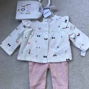 NWT Carters 3 Piece Outfit Set